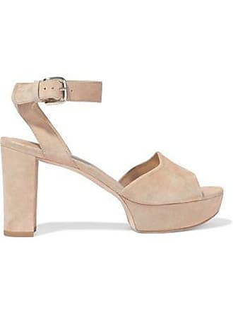 Stuart Weitzman Stuart Weitzman Woman Suede Platform Sandals Beige Size 10.5