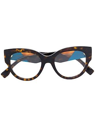 Fendi Armação de óculos oversized - Marrom