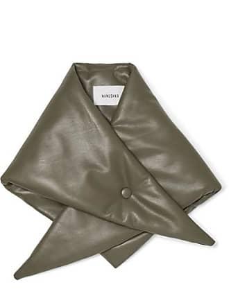 Nanushka Vegan Leather Scarf - Army green