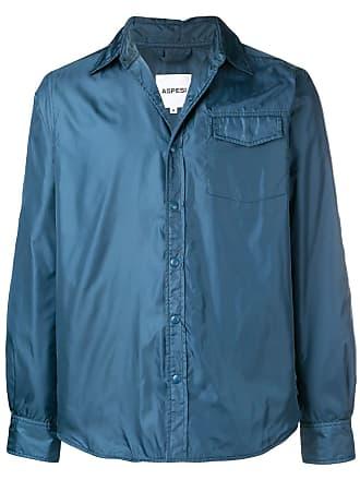 Aspesi Jaqueta com estilo de camisa leve - Azul