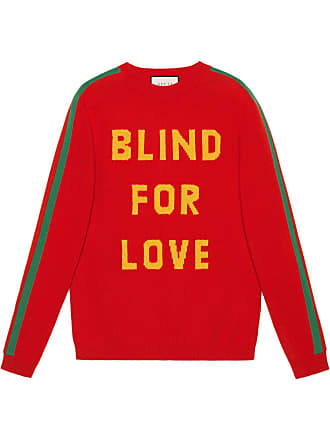 f2658cb59c01a Gucci Blind for Love and bee wool sweater - Red