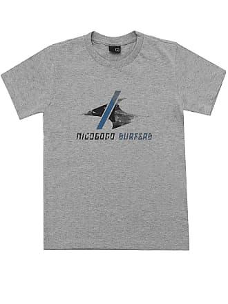 NICOBOCO Camiseta Nicoboco Menino Liso Cinza