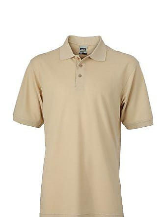 James   Nicholson Polo Mens Workwear, Homme, Beige (Stone), (Taille 9f93b725e79a
