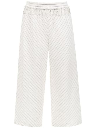 À La Garçonne striped trousers - White