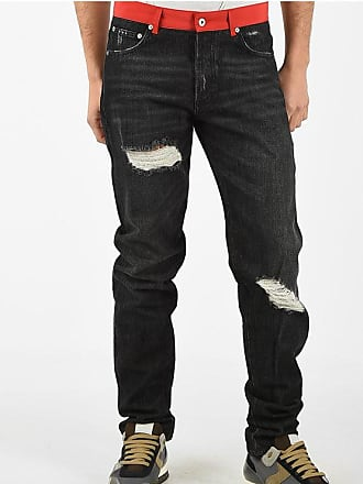 HPC Trading Co. Distressed Straight Fit Jeans 17cm Größe 32