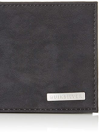 Quiksilver Mens BRIDGIES Wallets, Black, (Medium) 4.5 3.5(h)/12(w) x 9.5(h) cm