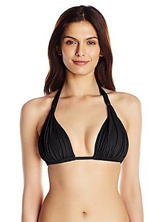 e974e4749234d La Blanca Womens Island Goddess Rouched Halter Bikini Swimsuit Top, Black, 8