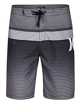 c8915f77b2 Hurley Mens Supersuede 21 inch Boardshort Swim Short, Black/(White), 29