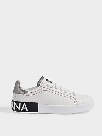 de4ba457b95 Dolce & Gabbana Portofino Sneakers in Metallic Calfskin
