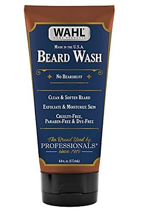 Wahl Wahl Beard Wash and Face Exfoliator, 6 Ounce Exfoliating and Moisturizing Beard Wash with Essential Oils, Paraben-Free & Dye-Free ( 805601)