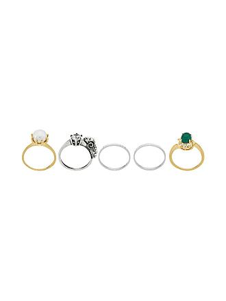 Iosselliani Conjunto de anéis Puro de prata banhada a ouro 18kt - Dourado