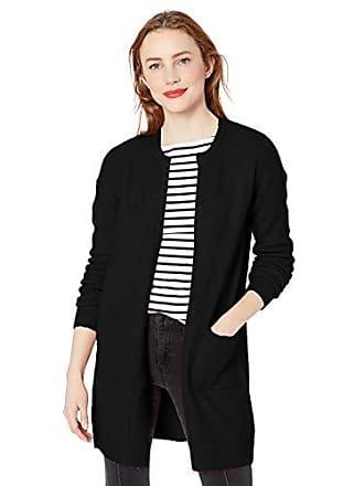 Nicole Miller Womens Ribbed Long Cardigan Sweater, black-00205, X-Large