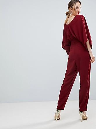 cf530d59158d4 Asos Tall ASOS DESIGN Tall Jumpsuit with Kimono Sleeve and Peg Leg - Purple