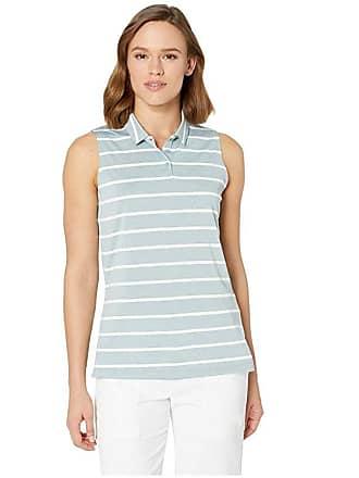 8454dc65 Nike Dry Polo Sleeveless Stripe (Aviator Grey/White/Aviator Grey) Womens  Sleeveless