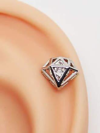 Eu Curto Acessórios Piercing de Diamante com Zircônia