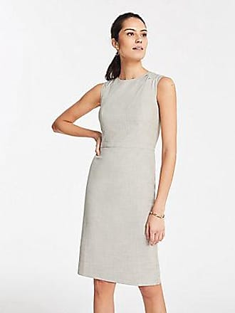 3267e1214dc ANN TAYLOR The Petite Pleated-Waist Sheath Dress in Crosshatch