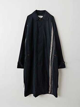 Acne Studios FN-MN-OUTW000089 Navy/Powder Pink Long belted coat