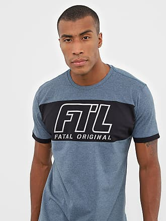 Fatal Surf Camiseta Fatal Lettering Azul