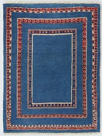 Nain Trading 101x73Tappeto Persia Gabbeh Loribaft Moderna/Design Marrone Scuro/Blu Scuro (Annodato a mano, Lana, Persia/Iran)