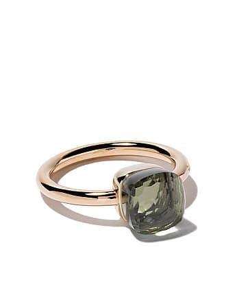 8ce147a2c9a9df POMELLATO 18kt rose   white small Nudo prasiolite ring - Green