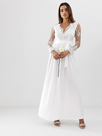 93690148f5 Club L Club L long sleeve lace applique wedding dress