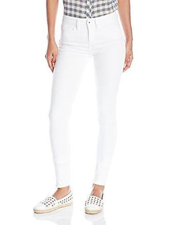 Yummie Tummie Modern Mid Rise Slimming Skinny Denim Jeans, White, 29