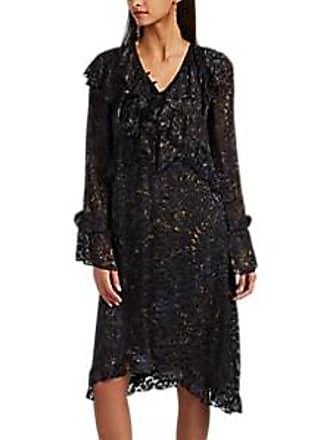 dd142dfd79a Iro Womens Belloy Ruffle Devoré Satin Dress - Black Size 38