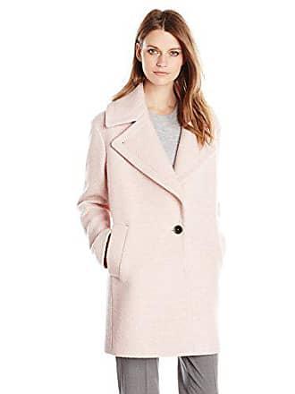 Kensie Womens Wool-Blend Cocoon Coat, Blush, Medium