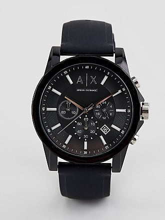 A|X Armani Exchange AX1326 Outerbanks Silicone Watch-Black