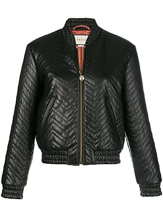 4f24066aaa489 Gucci matelassé bomber jacket - Black