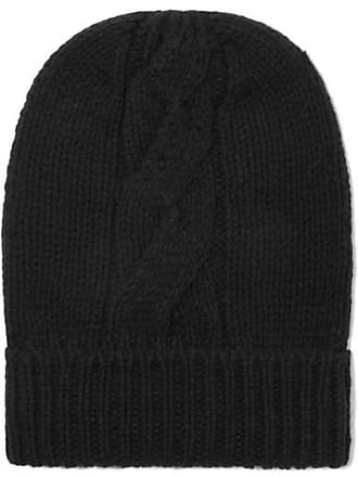 Majestic Filatures Cable-knit Wool And Cashmere-blend Beanie - Black