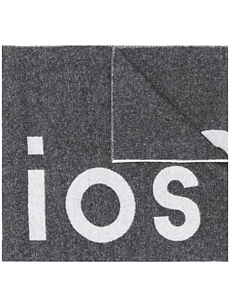 Acne Studios Cachecol Toronty com logo - Preto