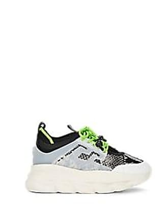 Versace Womens Chain Reaction Sneakers - Black Size 8.5
