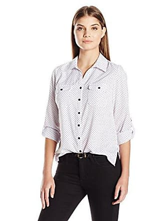 ce477420 Notations Womens Petite Size 3/4 Sleeve Y Neck Allover Printed Blouse,  White Akron