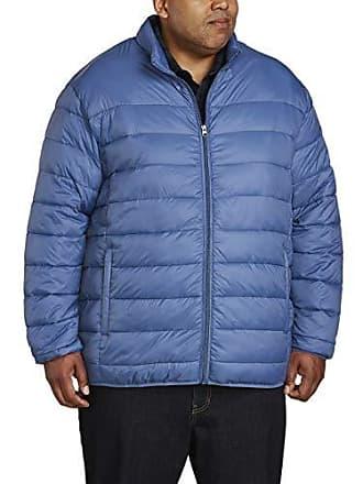 Amazon Essentials Mens Big & Tall Lightweight Water-Resistant Packable Puffer Jacket, Blue, 6X