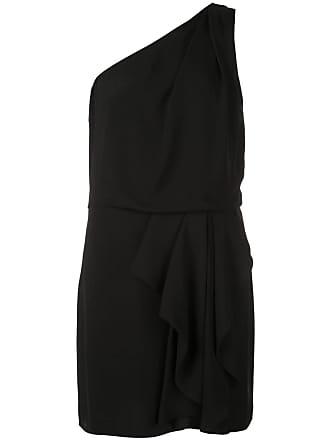 Halston Heritage Vestido slim assimétrico - Preto