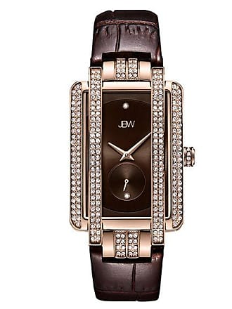 Zales Ladies JBW Mink Diamond Accent and Crystal 18K Rose Gold Plate Strap Watch (Model: J6358L-B)