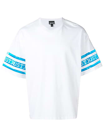 Just Cavalli branded panel T-shirt - White