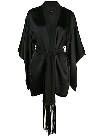 Kiki De Montparnasse Kimono oversized com cinto - Preto