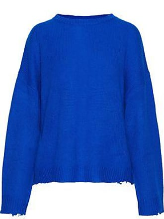 Rta Rta Woman Emmet Distressed Cashmere Sweater Bright Blue Size M