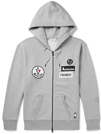 f24f51d2cf79 Moncler 7 Moncler Fragment Appliquéd Mélange Loopback Cotton-jersey Zip-up  Hoodie - Gray