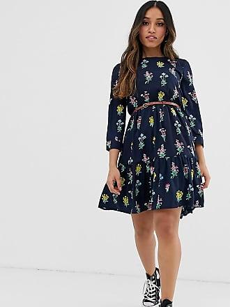 1f92b14a2ec6f Yumi Petite belted smock dress in floral print