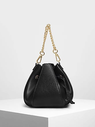 Charles   Keith Metallic Drawstring Bucket Bag 7574ef60f7362