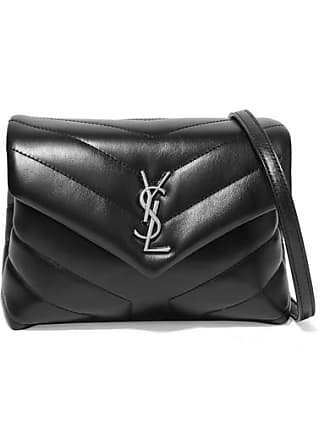7a264516068 Saint Laurent Loulou Toy Quilted Leather Shoulder Bag - Black