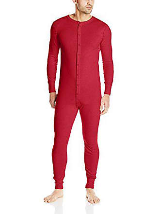 Fruit Of The Loom Mens Classic Thermal Union Suit, Red, Large