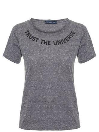Vi And Co Camiseta Trust The Universe Vi and Co - Cinza
