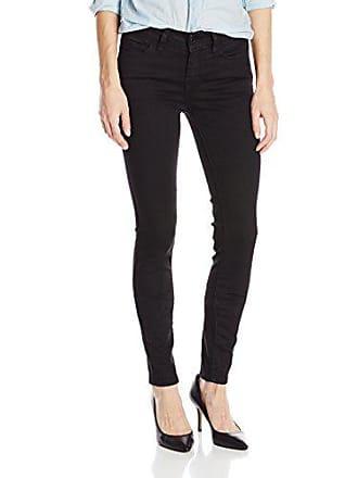 Yummie Tummie Womens Modern Mid Rise Slimming Skinny Denim Jeans, Black, 28