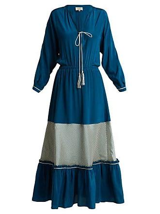 Zeus + Dione Jacqueline Silk Crepe Dress - Womens - Blue