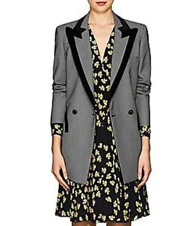 Blazé Milano Womens Everyday Velvet-Trimmed Birdseye Wool Blazer - Gray Size 00