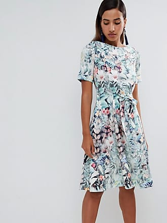 Closet floral tie waist dress - Multi